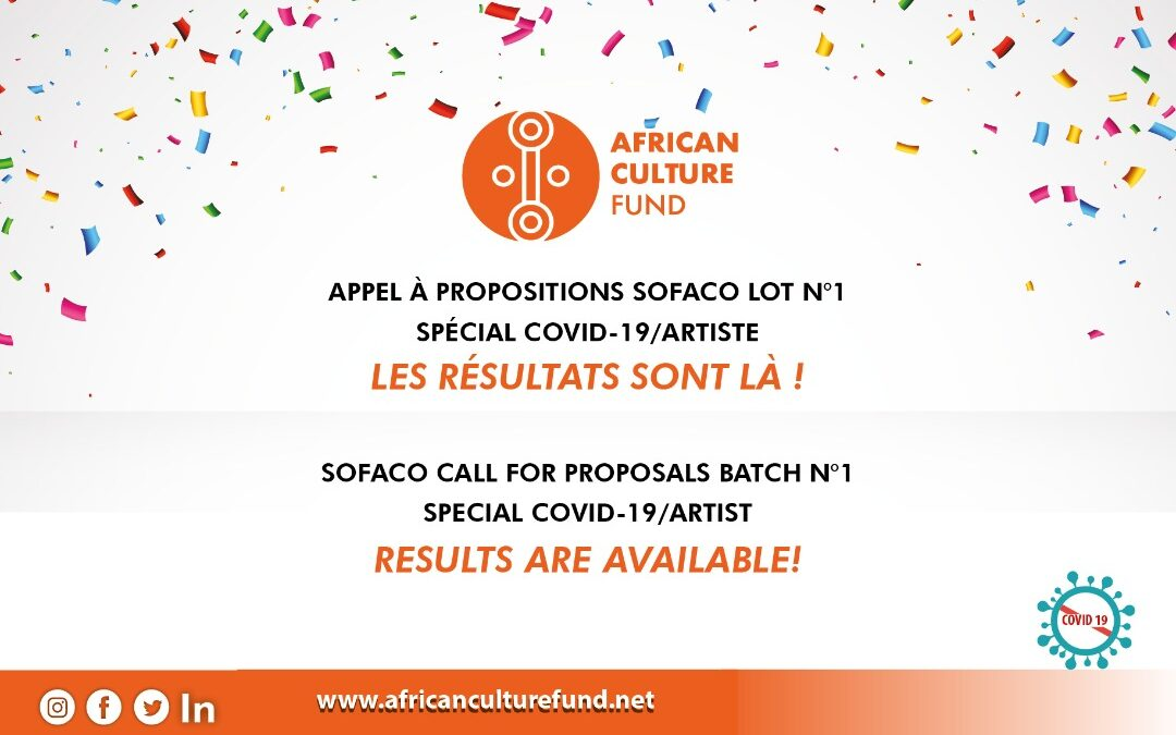 "Results of the third Call for Proposals SOFACO Batch N°1 ""Special Covid-19/Artist"""