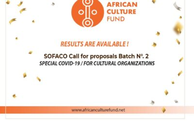 "Results of the fourth Call for Proposals SOFACO Batch No.2 ""Special Covid-19/Cultural organizations"""