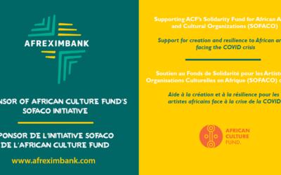 AFREXIMBANK, sponsor of ACF's SOFACO initiative