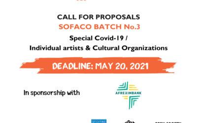 SOFACO CALL FOR PROPOSALS «BATCH No. 3 – SPECIAL COVID-19 / INDIVIDUAL ARTISTS & CULTURAL ORGANIZATIONS»