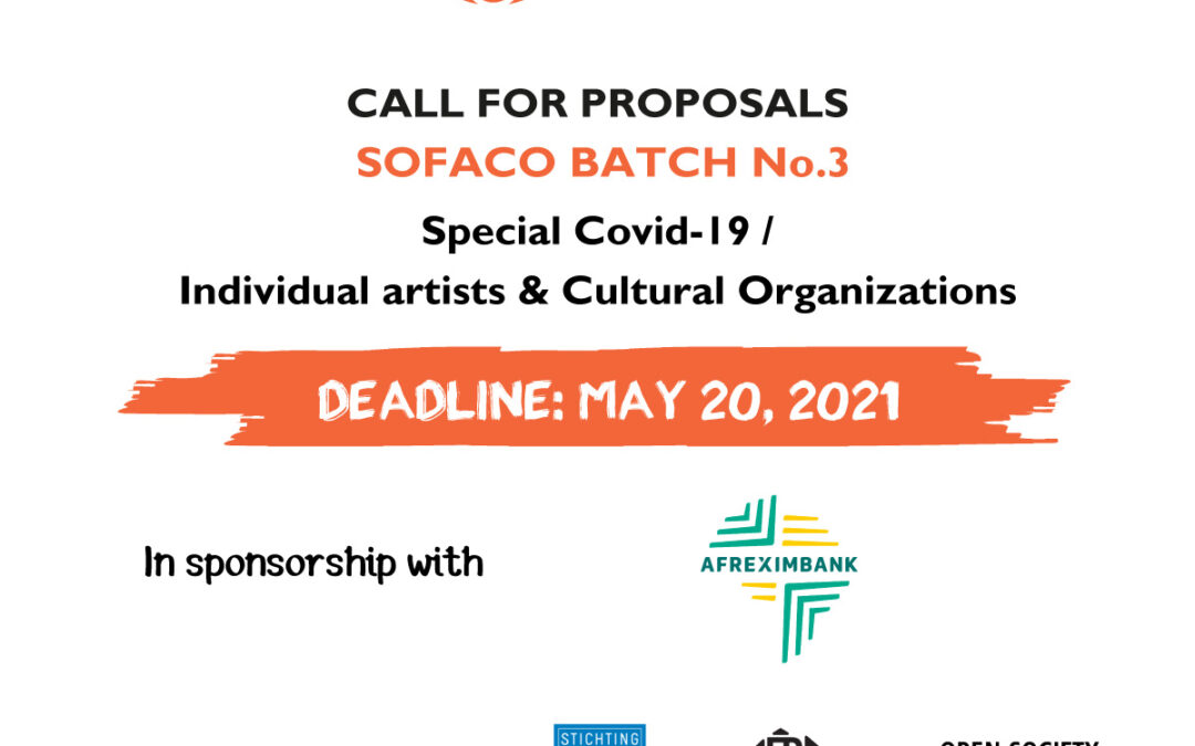 "Launch of the SOFACO Batch No.3 Call for proposals ""Special Covid-19 / Individual artists and cultural organizations"""