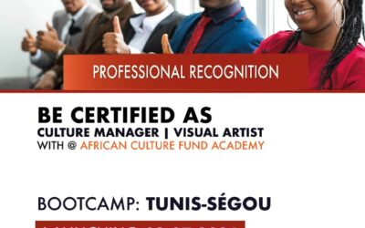 African Culture Fund is launching this July 2, 2021 its pan-African program of capacity building of artists and cultural actors of the continent ACF ACADEMY, through the bootcamps of North Africa (Tunis ) and west Africa (Segou).