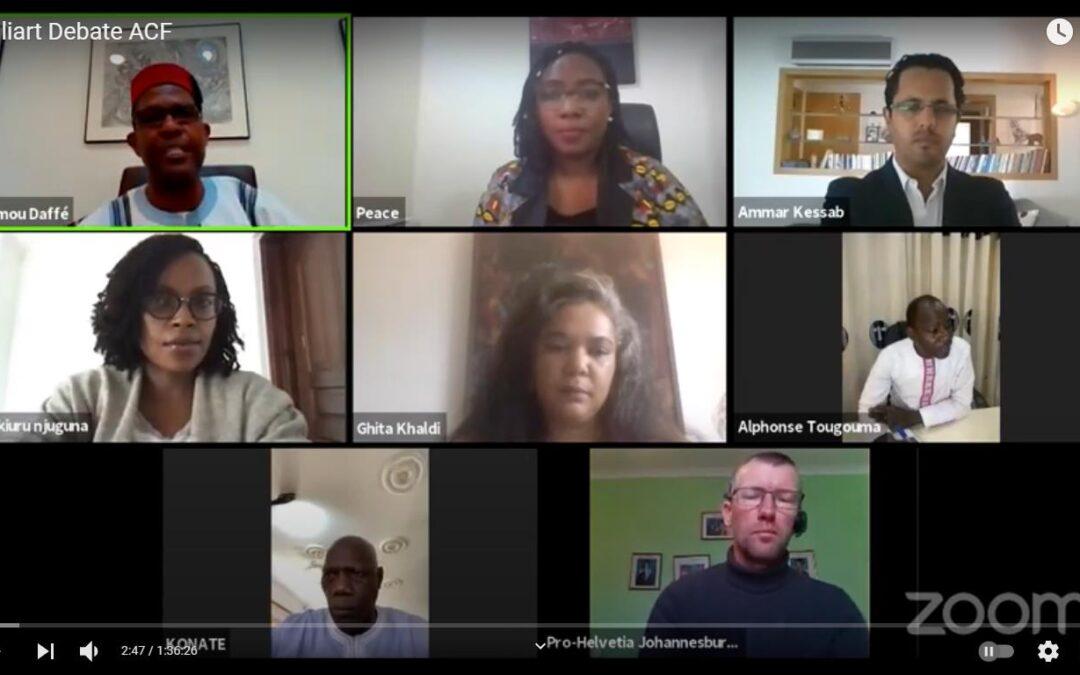 Le  haut panel sur le financement de la culture en Afrique