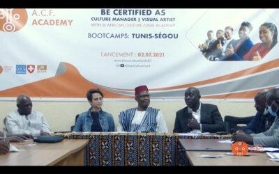Lancement du programme continental de renforcement de capacités des artistes et acteurs culturels africains